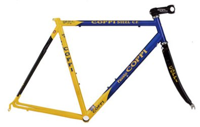 Coppi Genius Carbon Stays blue/yellow
